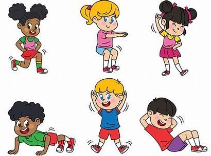 Exercise Fitness Exercising Physical Children Kid Exercises