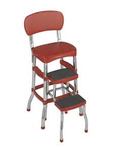 cosco products cosco red retro counter chair step stool