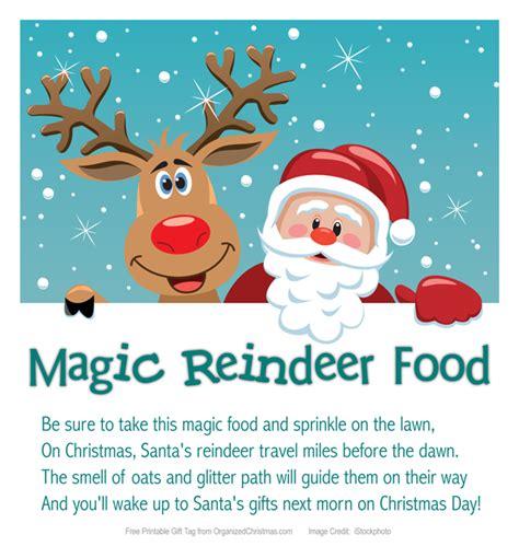magic reindeer food printable stocking stuffer