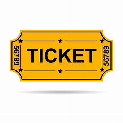 Ticket Yellow Vector Logos Admit Illustration
