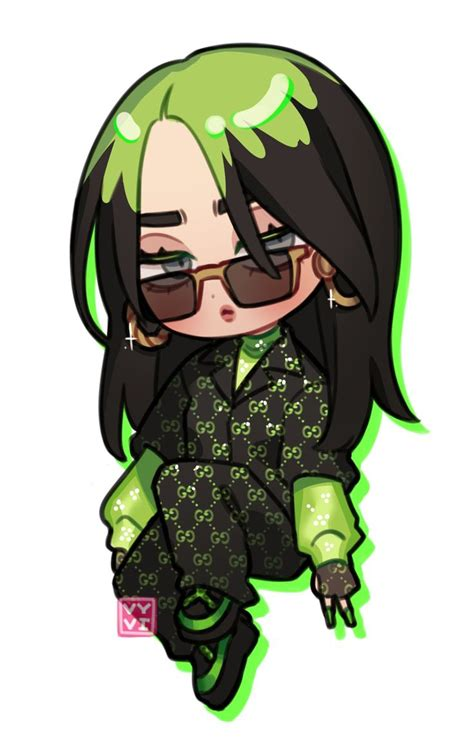 billie eilish stickers   girls cartoon art billie