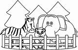 Zoo Animals Colouring Pages Coloring Printables sketch template