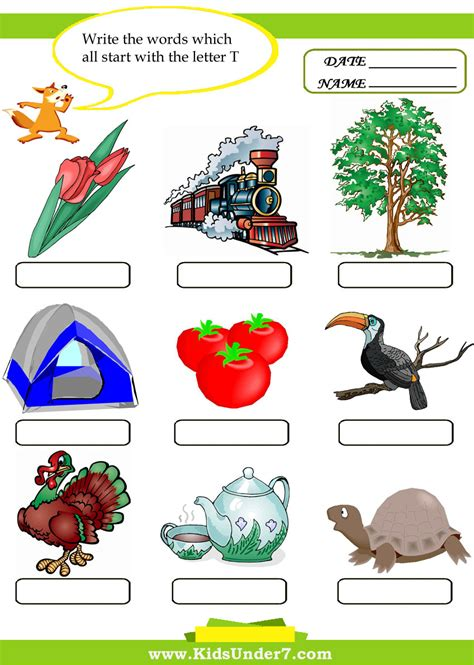 things that start with letter t with objects that letter t words search arc education 33428