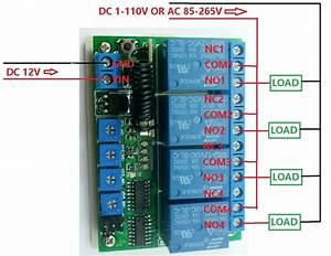 Dc 12v 4ch 433m Delay Timer Rf Wireless Relay Controller