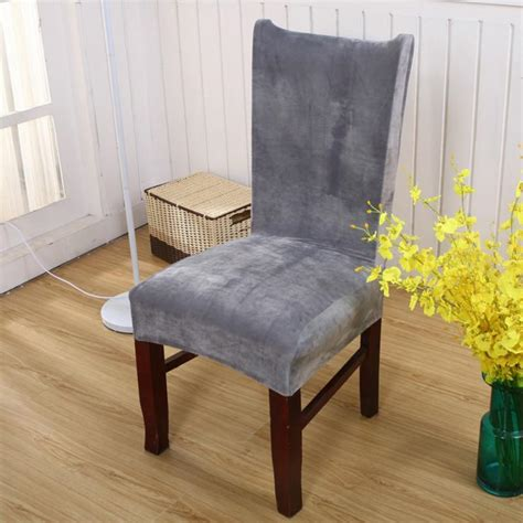 housse de chaise moderne removable chair cover stretch elastic fox pile fabric slipcovers modern minimalist chair covers