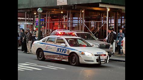 Police Cars Responding Usa New York Manhattan 2015 Hd