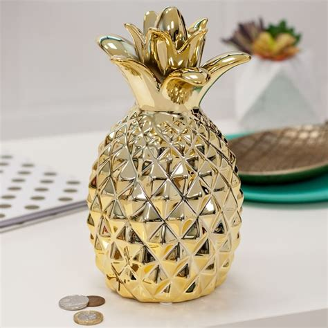 gold pineapple money box  gift experience