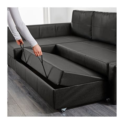 sofa 160 breit friheten corner sofa bed with storage bomstad black ikea