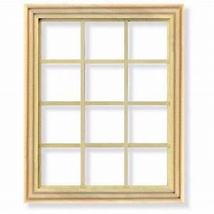 12 Pane Window Frame for 1:12 Scale Dolls House, DIY004