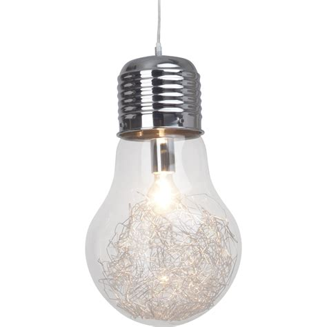 suspension cuisine leroy merlin suspension e27 design bulb verre transparent 1 x 60 w