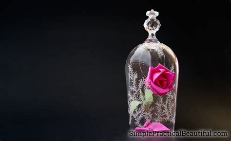 Beauty And The Beast Rose And Glass Cloche