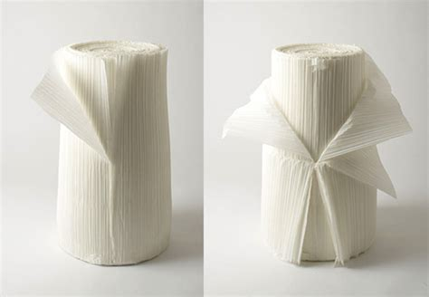 pleated recycled textile chair  nendo