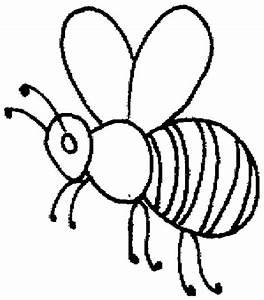 Honey Bee Outline Coloring Pages | Coloring Sky