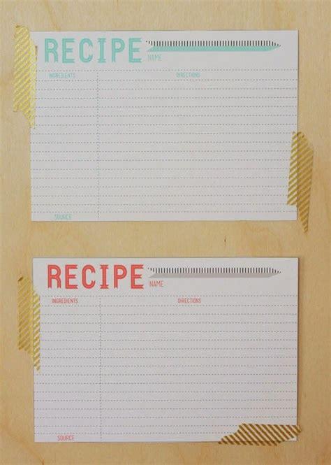 printable  recipe card template recipe cards