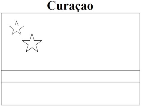 Vlag Curacao Kleurplaat by Geography Cura 231 Ao Flag Coloring Page