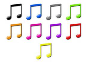 Colorful Music Notes Cartoon