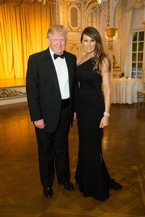 melania trump ball lady donald mar president gown she beach palm meet cross wife usa largo lago wear knauss campaign