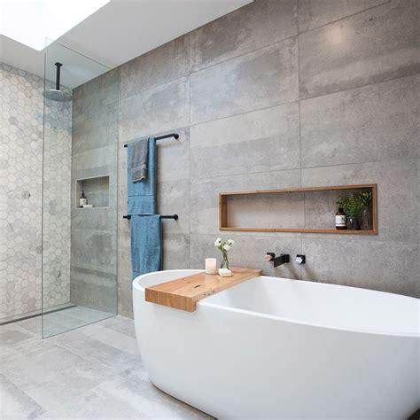 Beton Fliesen Bad by Best 25 Concrete Tiles Ideas On Three