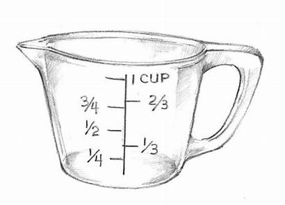 Measuring Cup Cups Glass Clipart Ingredients Clip