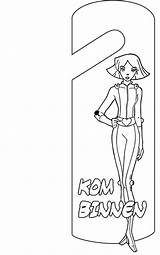 Coloring Door Hanger Pages Spies Totally Deurhanger Doorhangers Crafts Coloringpages1001 Fun Doorhanger sketch template