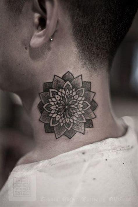 lotus tattoos  neck