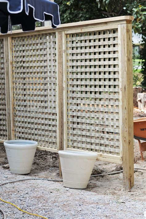 Backyard Privacy Screens Trellis by We Built A Lattice Wall In The Backyard