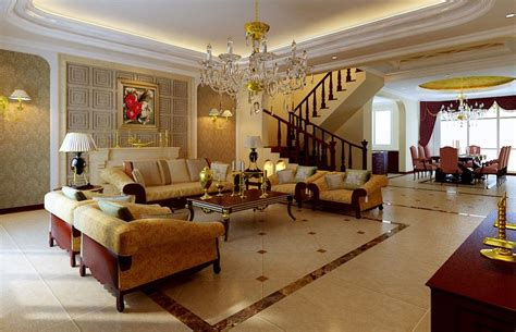 Luxusvilla Innen Wohnzimmer by Luxury Interior Design Golden Design For Luxury Villa