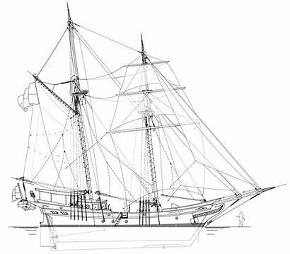 Schooner Cargo Privateer Sail Plan Drawings Sulawesi
