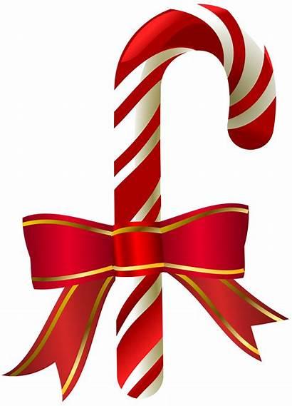 Cane Candy Clip Christmas Transparent Clipart Canes