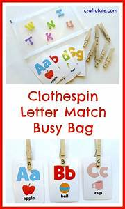 clothespin letter match busy bag fine motor fridays With clothespin letters