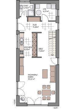 flexibles stadthaus auf kleinem grundstueck eco system haus grundrisse   narrow house