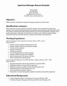 Property Manager Resume Sample