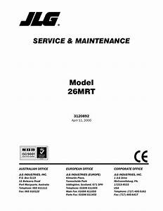 Jlg 26mrt Service Manual User Manual