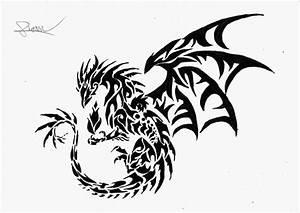 Tribal Dragon by Stephane-Piovan-Draw on DeviantArt