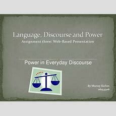 Power In Everyday Discourse