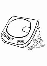 Cd Player Coloring Drawing Getdrawings Drawings Getcolorings Edupics sketch template