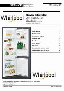 Whirlpool Art 6550 A  Sf Refrigerator Service Manual