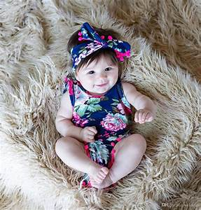 2019 Cute Baby Girls Clothing Tops Flower Bodies Without ...