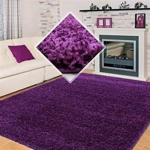 tapis shaggy pile longue couleur unique violet 140x140 cm With tapis shaggy avec canapé convertible violet pas cher