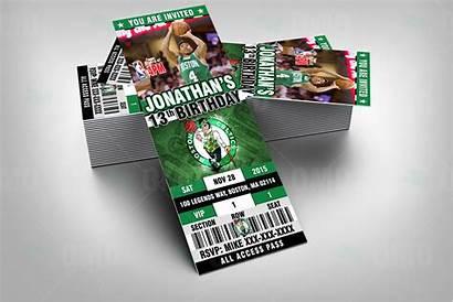 Celtics Boston Ticket Invite Sports Invites Party