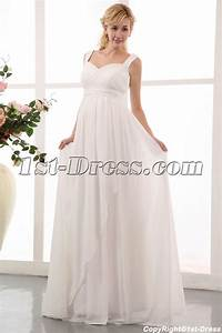 flowing straps long chiffon plus size maternity pregnant With plus size maternity wedding dresses