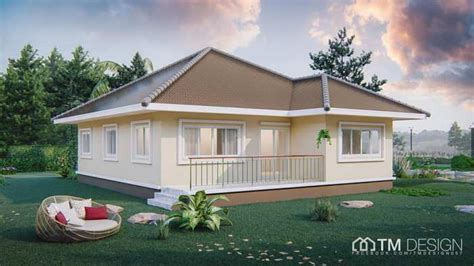 stunning square shaped bungalow   pyramid hip roof pinoy house plans