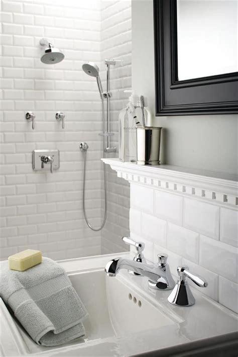bright white beveled subway tiles check  floor