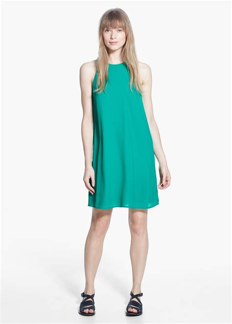lyst mango sleeveless dress  green