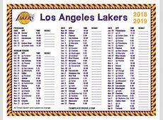 Printable 20182019 Los Angeles Lakers Schedule