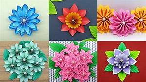 diy paper crafts ideas how to make paper flowers step by