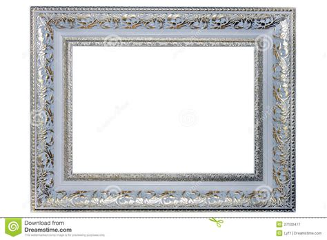 silver picture frame royalty  stock photography