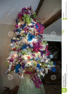 white christmas tree stock photo image 40026079