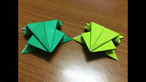 origami jumping frog origami tutorial video