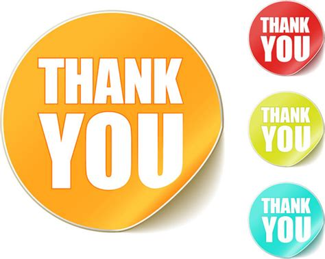 Thank You Sticker Vector Material
